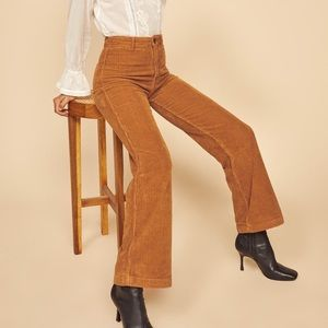 Reformation High Waisted Corduroy Jeans